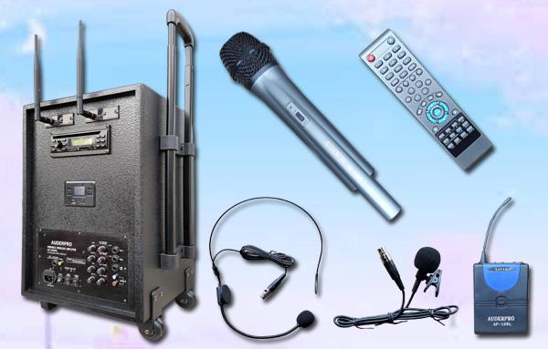 c portable wiireless auderpro ap1282pa dvd usb bluetooth