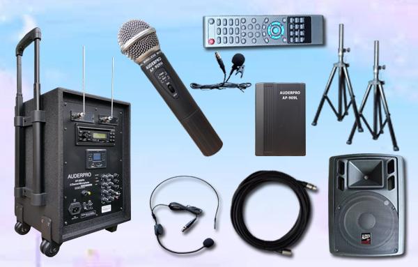 e2 portable wiireless auderpro ap909pa Bluetooth dvd usb vhf sound system pa1 speaker aktif ap112a 12 inch