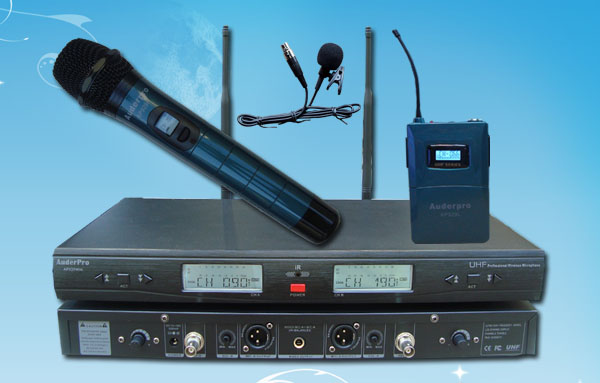 mic wireless auderpro ap929wm hl digital genggam clip-on