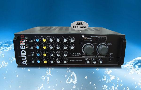 mixer amplifier karaoke auderpro ap802am usb meeting