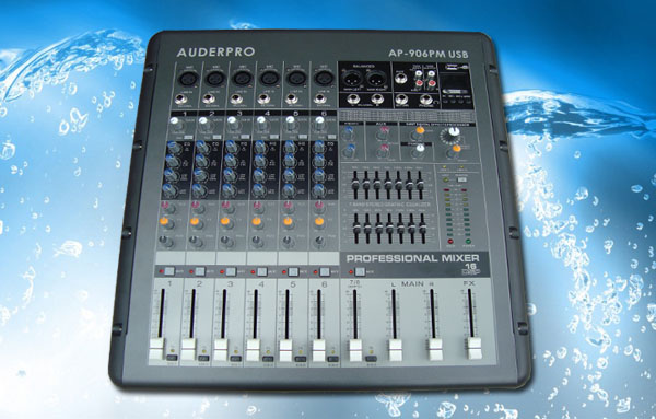 power mixer professional auderpro ap906pm usb