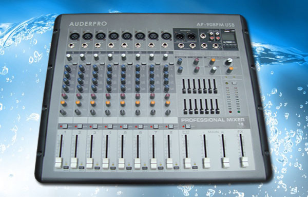power mixer professional auderpro ap908pm usb