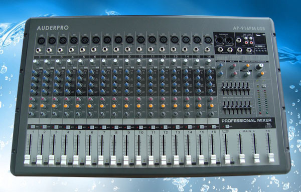 power mixer professional auderpro ap916pm usb