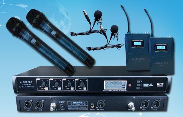 mic wireless auderpro ap929-2h2l digital genggam jepit
