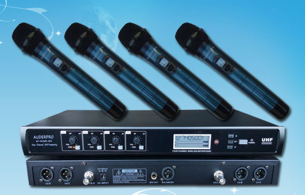 mic wireless auderpro ap929-4h digital 4 genggam handled