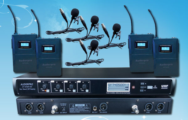 mic wireless auderpro ap929-4l digital 4 jepit