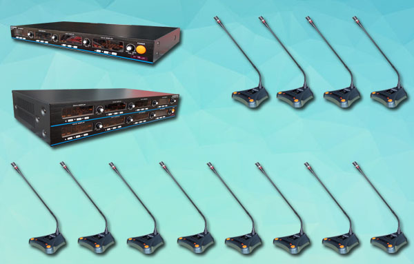 mic meja wireless auderpro K10 12 unit