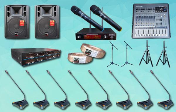 mic meja wireless auderpro K5 8 mic + sound system 15 inch