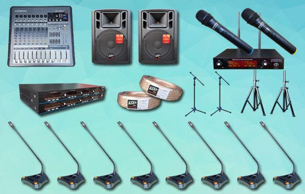 mic meja wireless auderpro K6 8 mic + sound system 12 inch