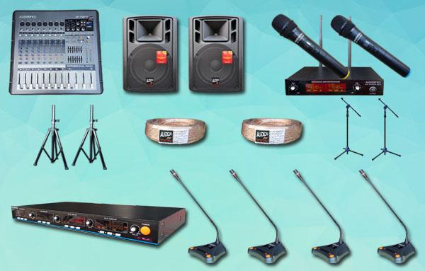 mic meja wireless auderpro K8 4 mic + sound system 12 inch