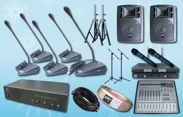paket conference 4 10 mic rapat agen conference auderpro ap808mc sound system
